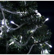 100 LED HIDEG FEHÉR Karácsonyi Beltéri Fényfüzér