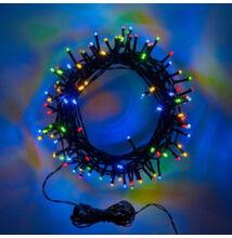 100 LED Kül és Beltéri Toldható Fényfüzér Zöld vezeték SZÍNES