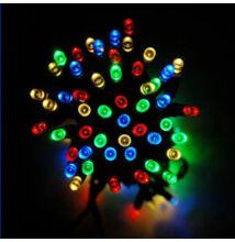 140 LED SZÍNES Toldható Fényfüzér Zöld vezeték