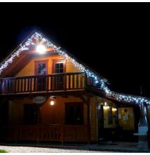 Jégcsap 180 LED Fényfüzér Hideg Fehér 5m