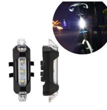 Tölthető LED bicikli kerékpár lámpa fehér