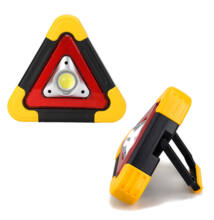 COB LED szolár multifunkciós lámpa elakadásjelző háromszög HB-6608