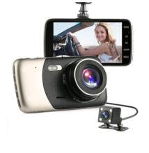 Autós eseményrögzítő kamera Full HD 170° látószög tolatókamera IPS kijelző