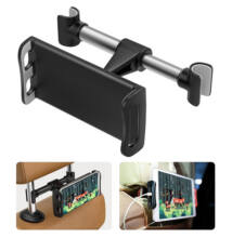 Telefon és tablettartó fejtámlára rögzíthető 360°