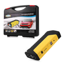 Hordozható autós indító szett kofferben powerbank bikázó töltő és LED lámpa egyben