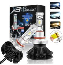 X3 Autó LED extra erős 6000LM 50W H7 extra színfóliákkal