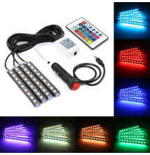 LED lábtér világítás autóba színes távirányítós