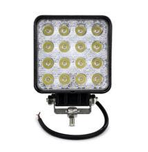 Autós LED reflektor 48W IP67 12-36V szögletes
