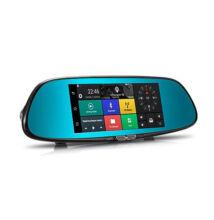 Autós Visszapillantó Tükör GPS Navigáció Fedélzeti DVR Tolató Kamera Multimédia Lejátszó