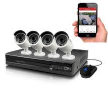 4 kamerás komplett biztonsági megfigyelő rendszer HD kamerával