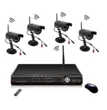 WIFI Vezeték Nélküli Biztonsági Kamera Rendszer 4 Kamerás CCTV