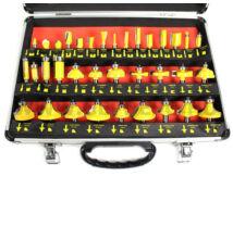 35 részes felsőmaró készlet fém kofferban