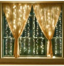 LED Fényfüggöny 2mx1,5m Meleg Fehér