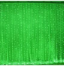 LED Fényfüggöny 2mx2m Zöld