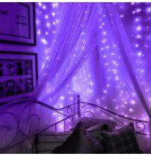 Fényhuzal fényfüggöny Lila 2mx2m