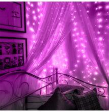 Fényhuzal fényfüggöny Pink 2mx2m