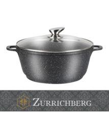 Zurrichberg 24cm márvány bevonatú lábas üveg fedővel szilikon fogantyúval