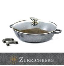 Zurrichberg 28cm márvány bevonatú lábas üveg fedővel szilikon fogantyúval