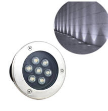 Kültéri beépíthető LED lámpa meleg fehér IP68 7W