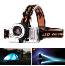 LED fejlámpa tölthető 3 in 1 hideg fehér meleg fehér kék AL-5280