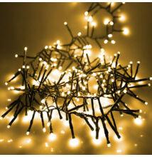 LED sziporkázó extra sűrű fényfüzér 300LED 4,5m meleg fehér
