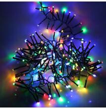LED sziporkázó extra sűrű fényfüzér 300LED 4,5m színes