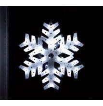 LED világító ablakdísz hópehely 40cm hideg fehér