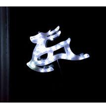LED világító ablakdísz rénszarvas 40cm hideg fehér