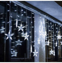 Csillag LED jégcsap fényfüzér 3m hideg fehér