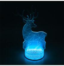 3D LED dekorációs éjszakai fény RGB szarvas TB1121