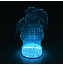3D LED dekorációs éjszakai fény RGB télapó TB1124
