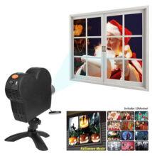 Beltéri Ablak Projektor 12 Videóval Karácsony Halloween