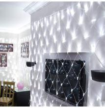 LED Beltéri Háló Fényháló HIDEG FEHÉR 1,6mx1,2m