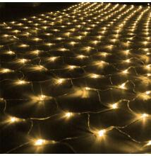 LED Beltéri Háló Fényháló MELEG FEHÉR 1,6mx1,2m