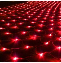 LED Beltéri Háló Fényháló PIROS 1,6mx1,2m