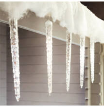 Olvadást imitáló csepegő jégcsap 50cm Meleg Fehér Extra Valósághű