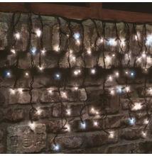 LED sorolható villogó sziporkázó jégcsap fényfüzér meleg fehér hideg fehér 3m 50LED KSF 50F/WW