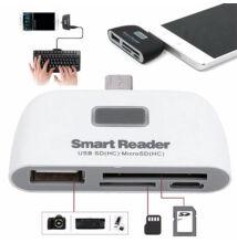 4 in 1 OTG kártyaolvasó szett adapter