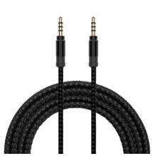 Jack audio kábel fonott 3,5mm 3m