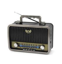 Kemai Hordozható multimédia lejátszó MP3 USB TF FM AM SW rádió RETRÓ MD-1909BT