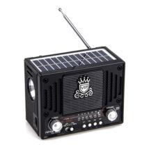 Napelemes hordozható multimédia lejátszó MP3 USB FM rádió NS-1555S
