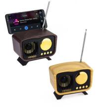 Bluetooth Hangszóró Kihangosító Telefontartóval TF USB AUX FM KM-6