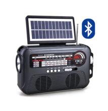 Bluetooth napelemes multimédia lejátszó lámpával MP3 USB FM rádió TF MK-192
