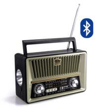 Bluetooth hordozható multimédia lejátszó lámpával NS-1531BT MP3 USB FM rádió TF RETRÓ