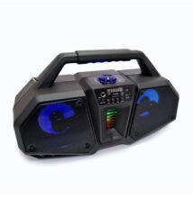 Bluetooth hordozható multimédia lejátszó 10W MP3 USB FM rádió TF ZQS-4216