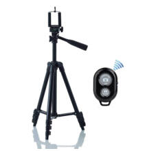 Fényképezőgép kamera telefon állvány tripod Bluetooth távirányítóval 3120