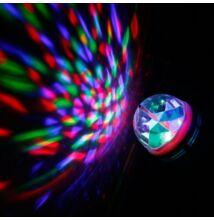 Színes RGB LED diszkó gömb lámpa E27