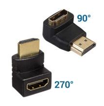HDMI csatlakozó fordító adapter 90 és 270 fok