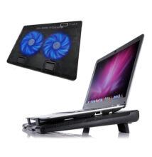 Cooling Pad laptop hűtő kék LED világítással 2USB