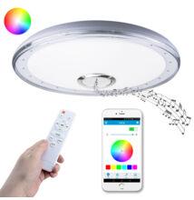 RGB LED Mennyezeti Kör Lámpa Beépített Bluetooth Hangszóró 40cm
